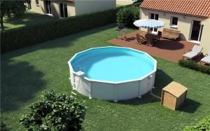 Une piscine hors-sol se démontant