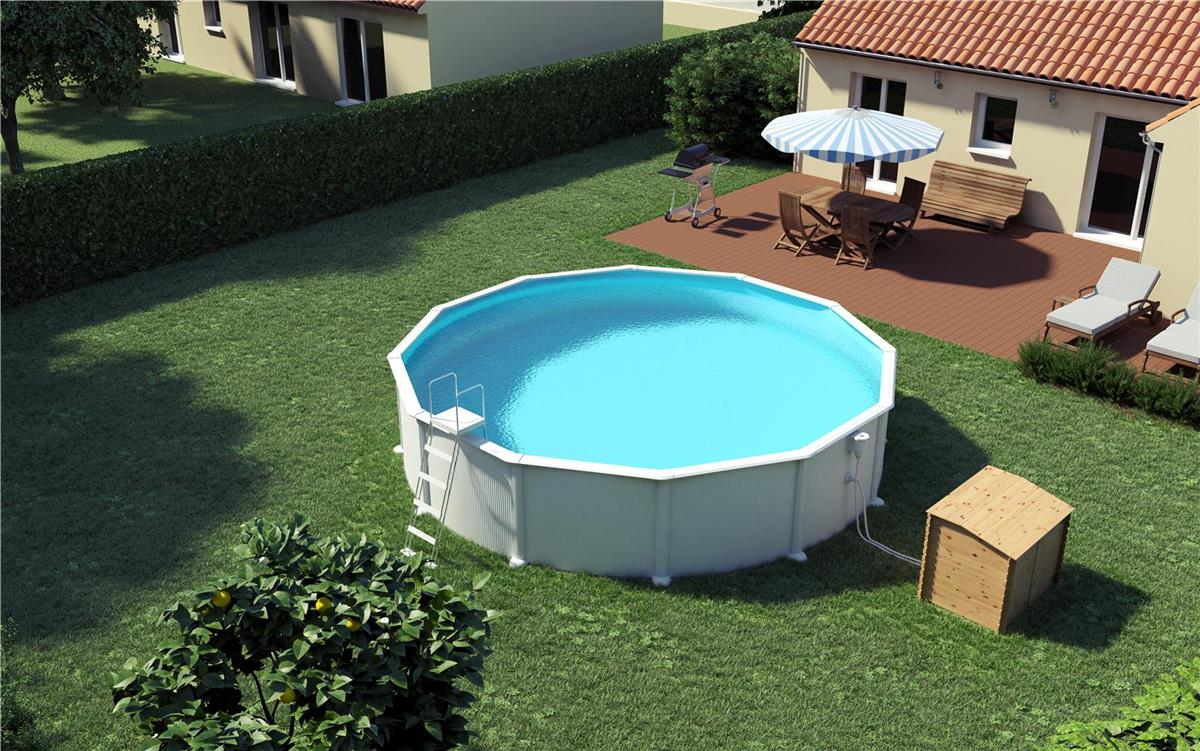 Piscine hors sol fer for Sol piscine