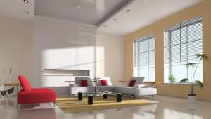 un plafond tendu dans un salon
