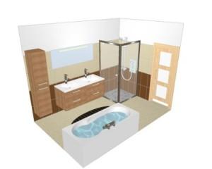 Salle de bain tout savoir sur sa renovation et installation for Salle de bain avec baignoire douche et wc